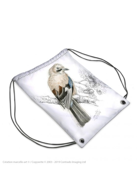 Marcello-art : Accessoires de mode Sac de sport 273 geai bleu 393 geai des chênes