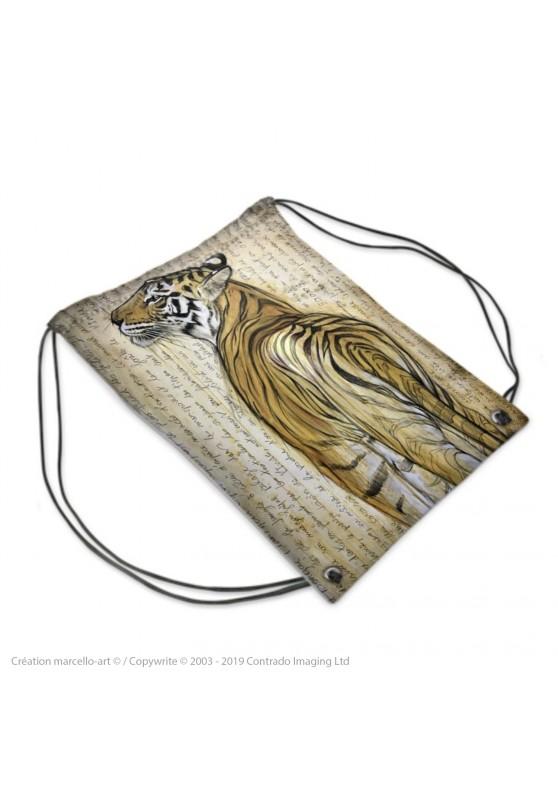 Marcello-art : Accessoires de mode Sac de sport 298 tigre du Bengale