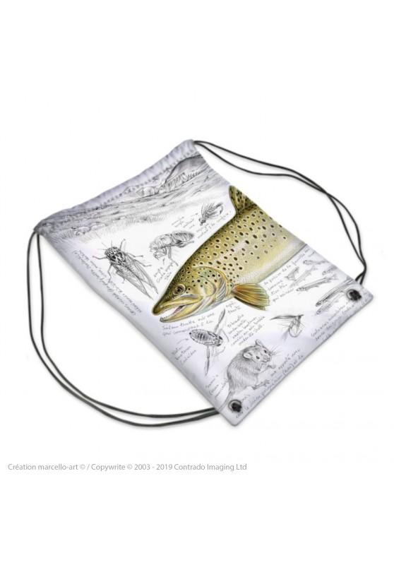 Marcello-art : Accessoires de mode Sac de sport 372 truite fario