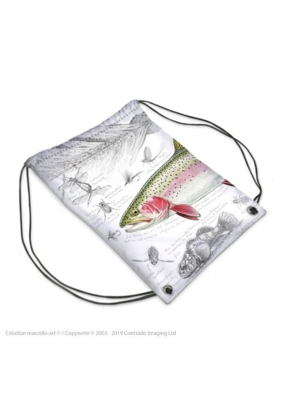 Marcello-art : Accessoires de mode Sac de sport 373 truite arc-en-ciel