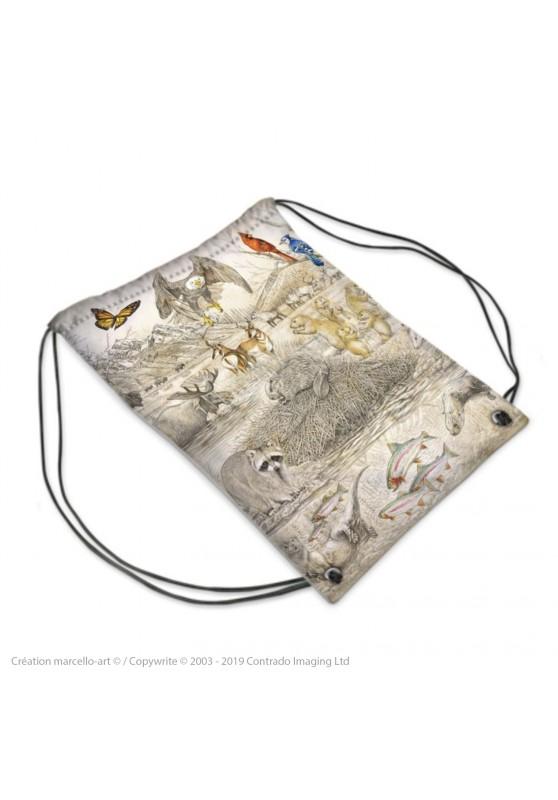 Marcello-art : Accessoires de mode Sac de sport 393 faune Américaine