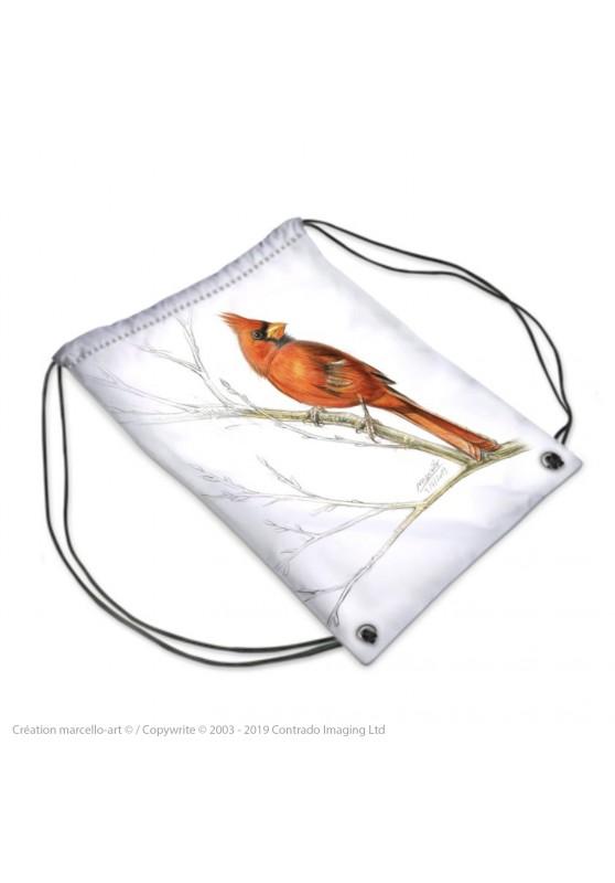 Marcello-art : Accessoires de mode Sac de sport 393 geai bleu et cardinal 393 geai bleu et cardinal