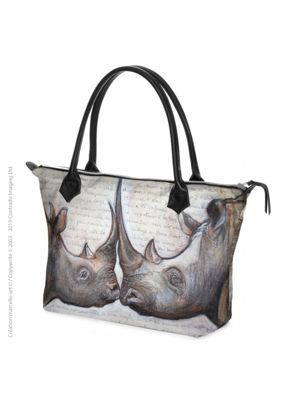 Marcello-art: Fashion accessory Zipped bag 106 rhino kiss
