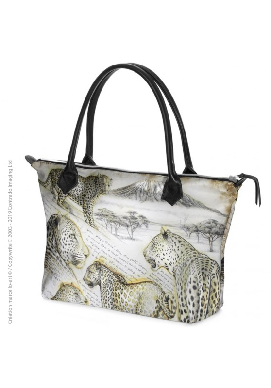 Marcello-art: Fashion accessory Zipped bag 252 leopard