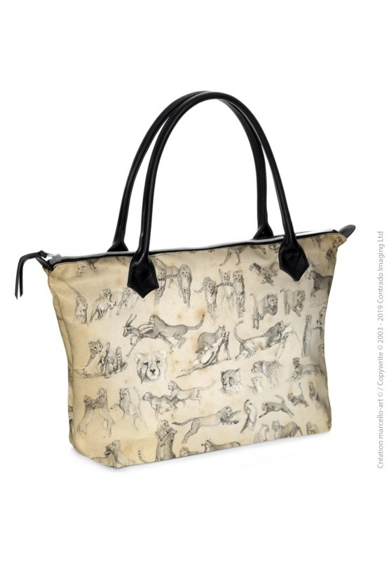 Marcello-art: Fashion accessory Zipped bag 320 Cheetah For Ever