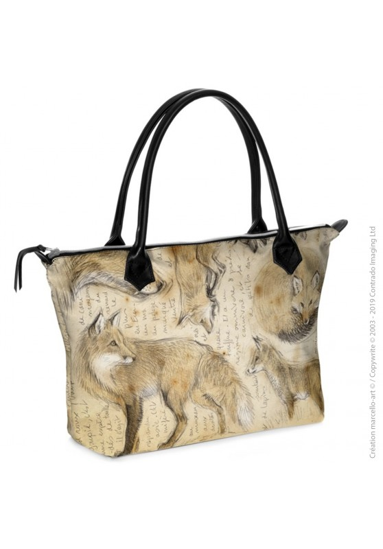 Marcello-art: Fashion accessory Zipped bag 336 red fox