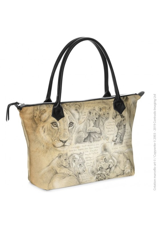 Marcello-art: Fashion accessory Zipped bag 331 lion cubs 335 lion cubs