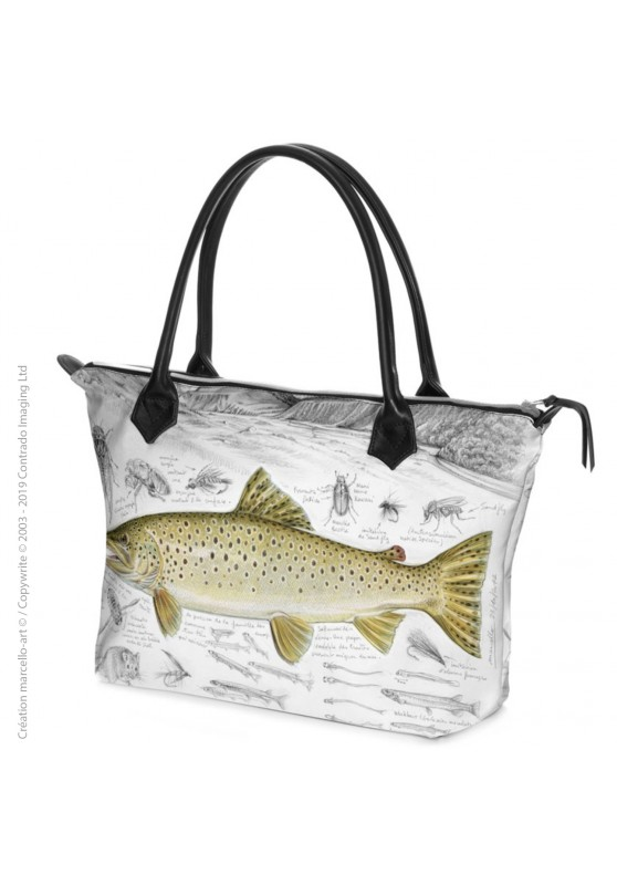 Marcello-art: Fashion accessory Zipped bag 372 brown trout 373 rainbow trout