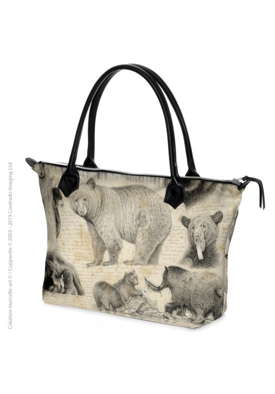 Marcello-art: Fashion accessory Zipped bag 382 black bear