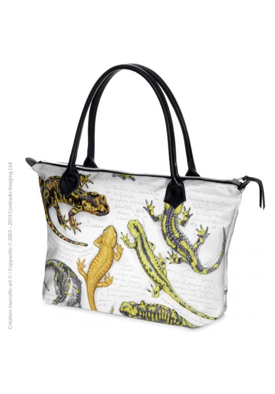 Marcello-art : Accessoires de mode Sac zippé 383 salamandre