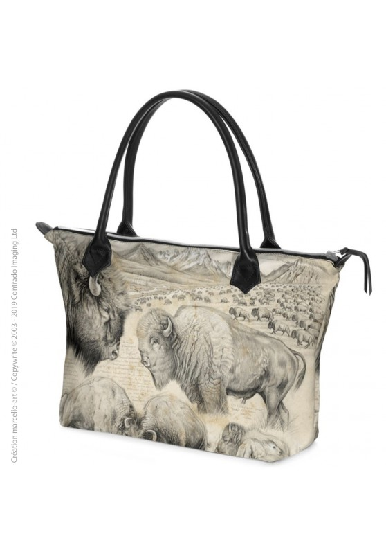 Marcello-art: Fashion accessory Zipped bag 390 American buffalo