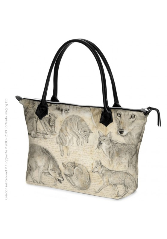 Marcello-art: Fashion accessory Zipped bag 391 coyote