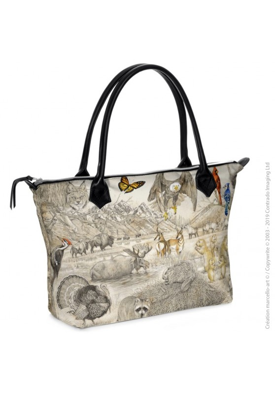 Marcello-art : Accessoires de mode Sac zippé 393 faune Américaine
