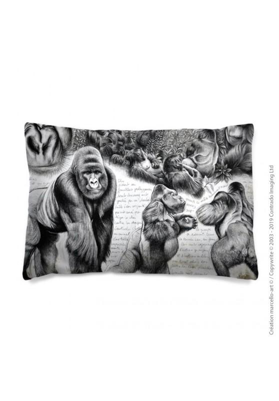 Marcello-art: Fashion accessory Pillowcase 301 A gorilles Virgunga