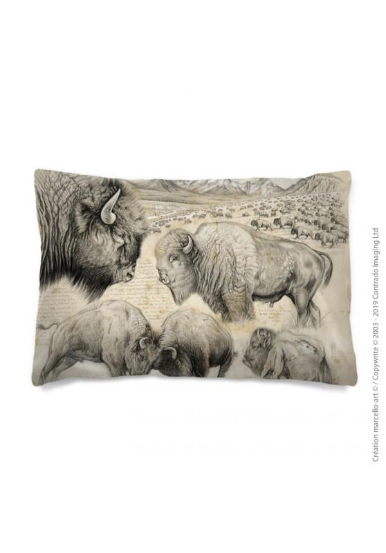 Marcello-art: Fashion accessory Pillowcase 390 A bison