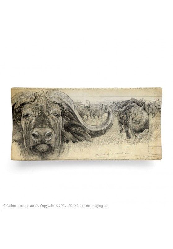 Marcello-art: Rectangular plates Rectangular plate 274 cap buffalo engraving