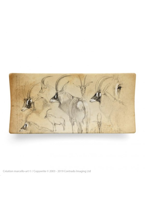 Marcello-art: Rectangular plates Rectangular plate 8 Roan antelope