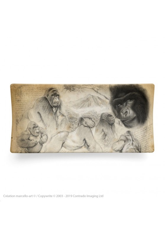 Marcello-art: Rectangular plates Rectangular plate 193 Mountain gorilla