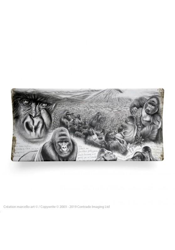 Marcello-art: Rectangular plates Rectangular plate 301 Virunga gorilla