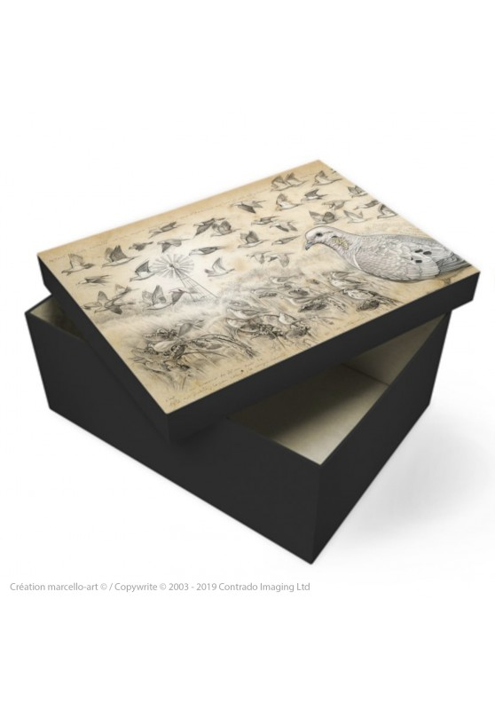 Marcello-art: Decoration accessoiries Souvenir box 231 Eared Dove