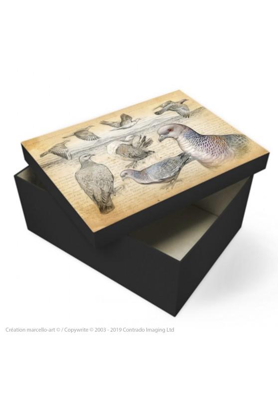 Marcello-art : Accessoires de décoration Boîte à souvenirs 233 Pigeon picazuro