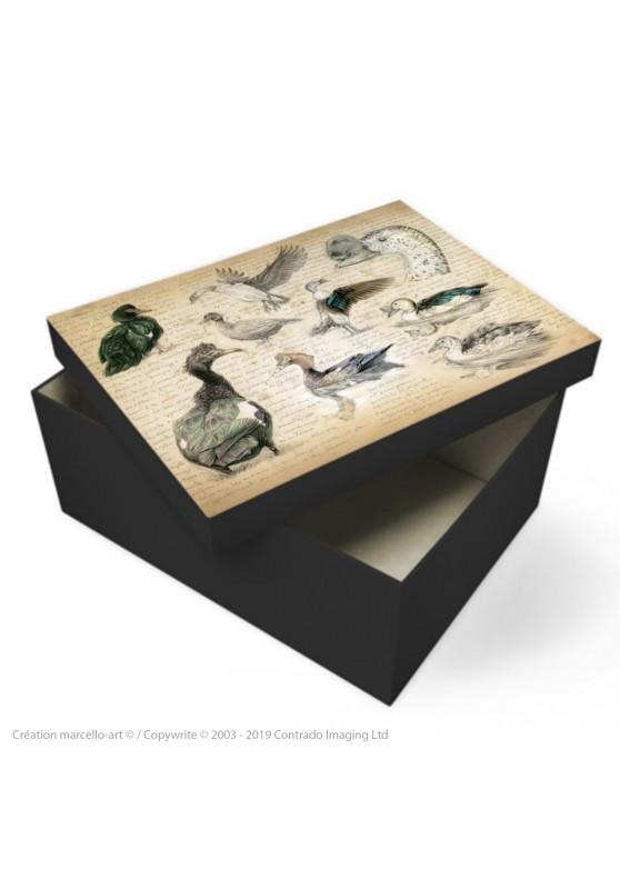 Marcello-art : Accessoires de décoration Boîte à souvenirs 238 Canard musqué et Canard à bosse