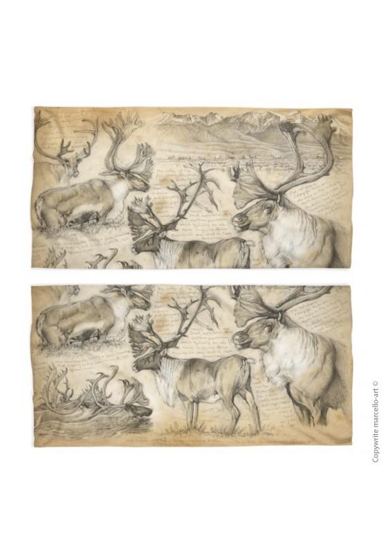Marcello-art: Tube scarf Tube Scarf 190 Caribou