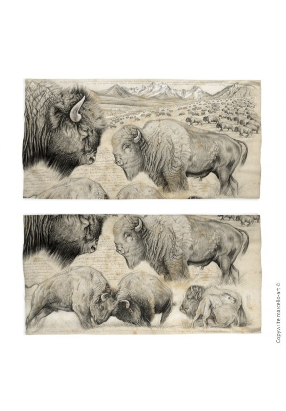 Marcello-art: Tube scarf Tube Scarf 390 American buffalo