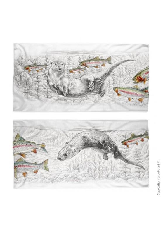 Marcello-art: Tube scarf Tube Scarf 393 Otter