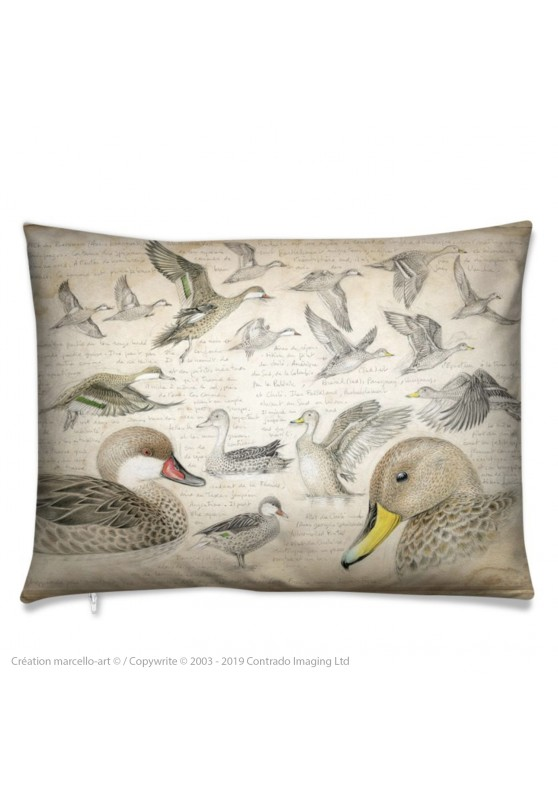 Marcello-art: Fashion accessory Cushion 234 White-cheeked pintail & Yellow-billed Pintail