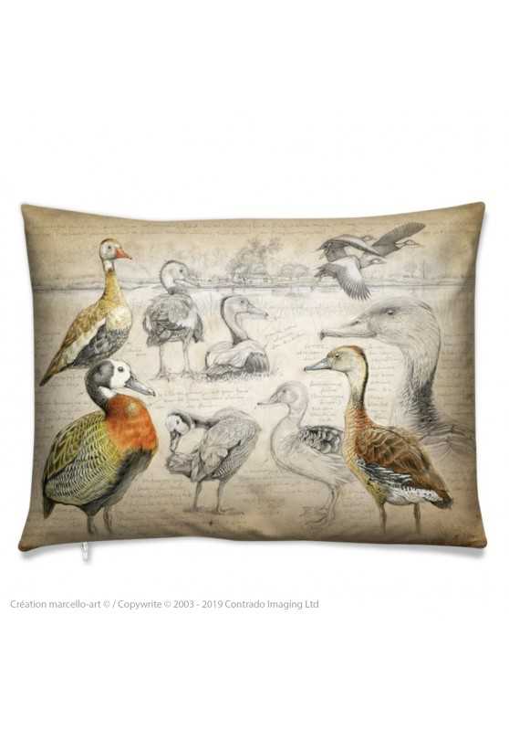 Marcello-art: Fashion accessory Cushion 237 Whistling Duck