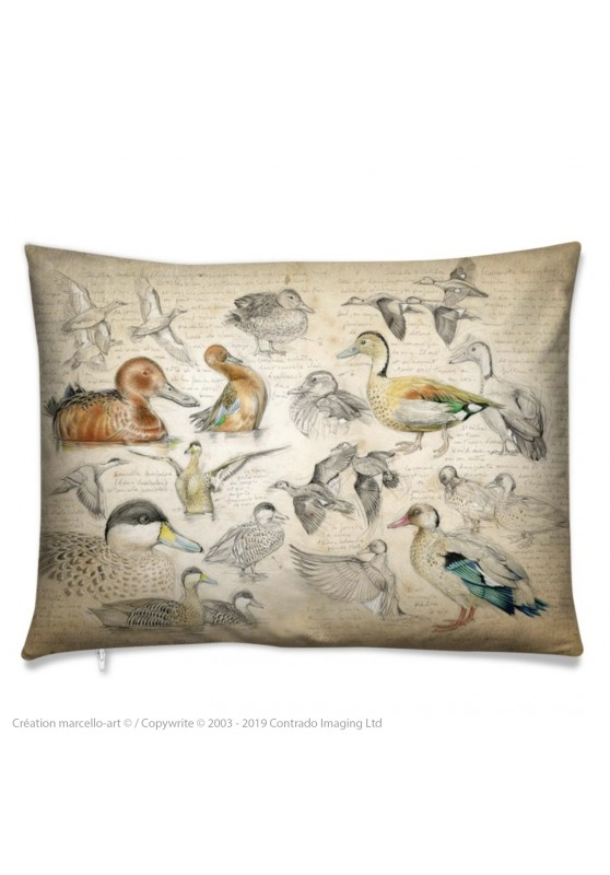 Marcello-art: Fashion accessory Cushion 239 Cinnamon teal, from Brazil, spotted and versicolor