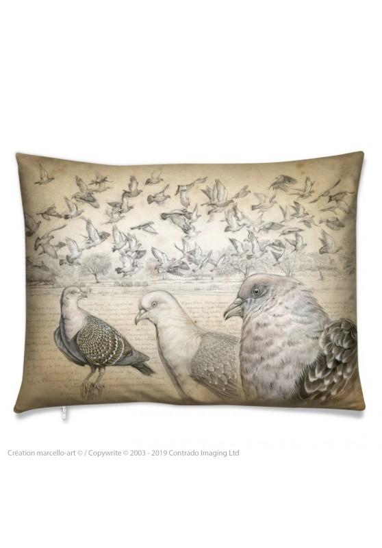 Marcello-art : Accessoires de mode Coussin 232 Pigeon tigré