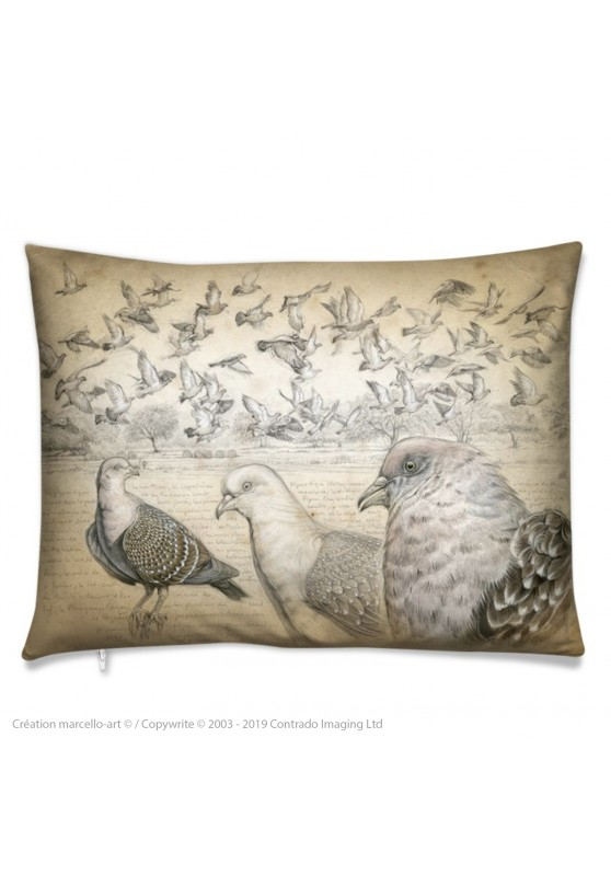 Marcello-art: Fashion accessory Cushion 232 Spot-winged Pigeon