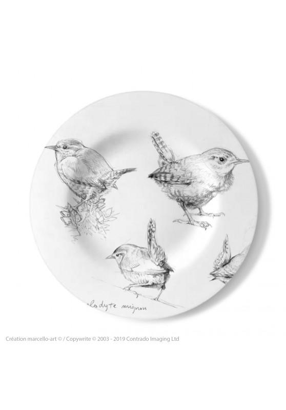 Marcello-art : Assiettes de décoration Assiette décorative 212 Troglodyte mignon