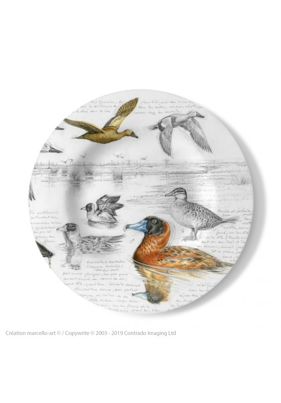 Marcello-art: Decorating Plates Decoration plates 235 Masked Duck