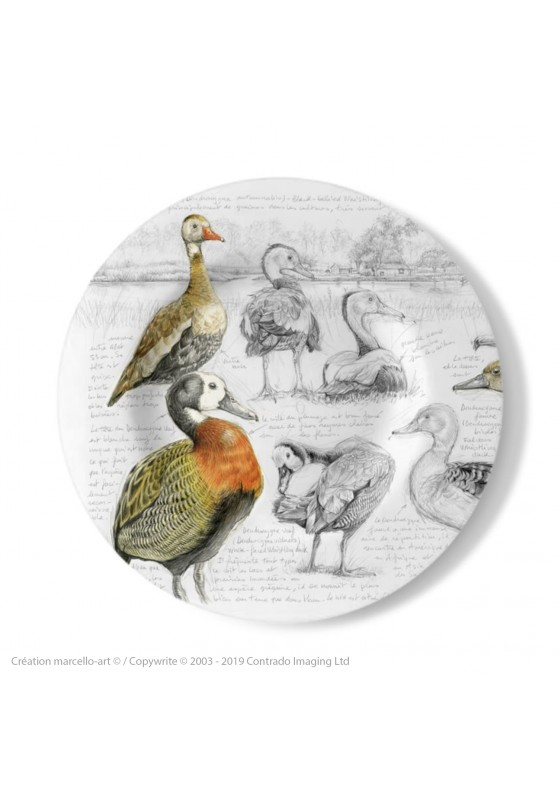 Marcello-art: Decorating Plates Decoration plates 237 A Whistling Duck
