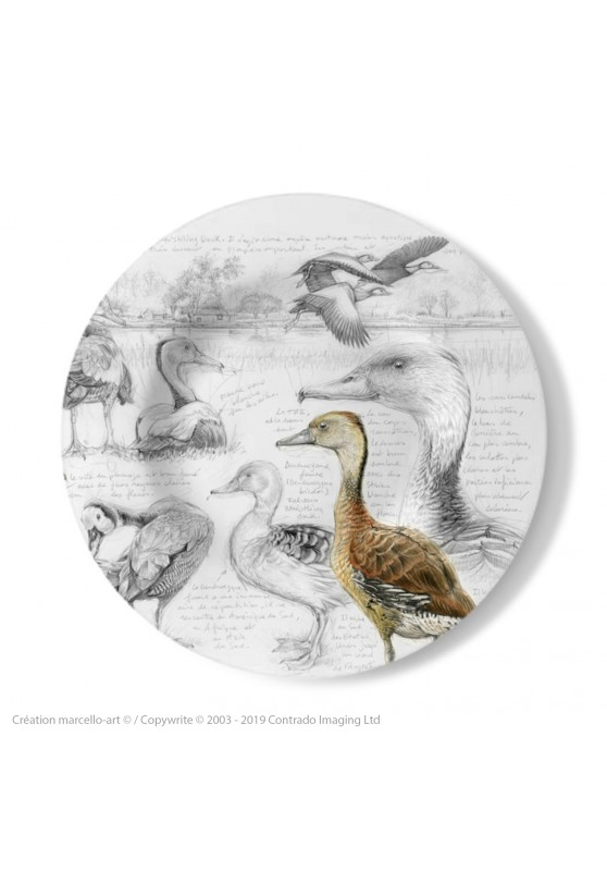 Marcello-art: Decorating Plates Decoration plates 237 B Whistling Duck