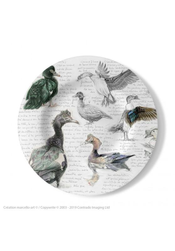 Marcello-art : Assiettes de décoration Assiette décorative 238 Canard musqué et Canard à bosse