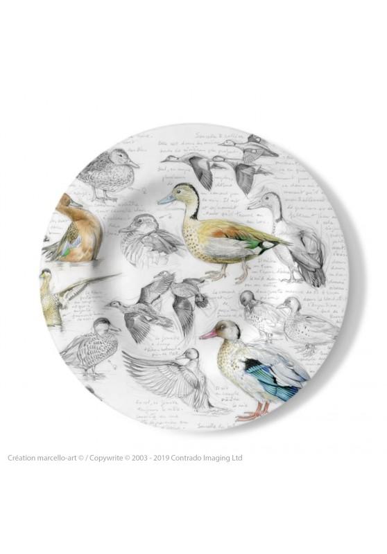 Marcello-art : Assiettes de décoration Assiette décorative 239 B Sarcelles cannelle, du Brésil, tachetée et versicolor