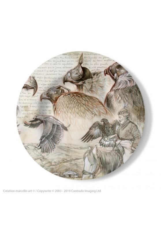 Marcello-art: Decorating Plates Decoration plates 256 Kazakh Eagles