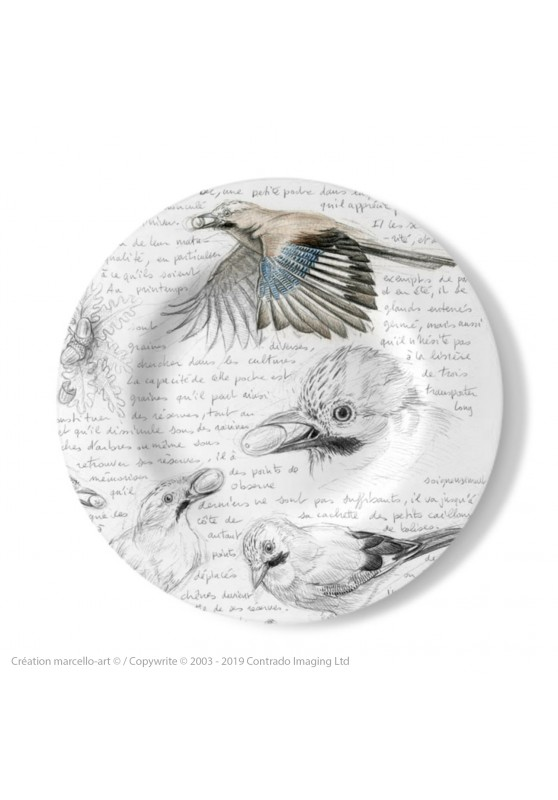 Marcello-art: Decorating Plates Decoration plates 273 Jay of the oaks