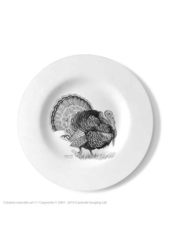 Marcello-art : Assiettes de décoration Assiette décorative 393 Dindon