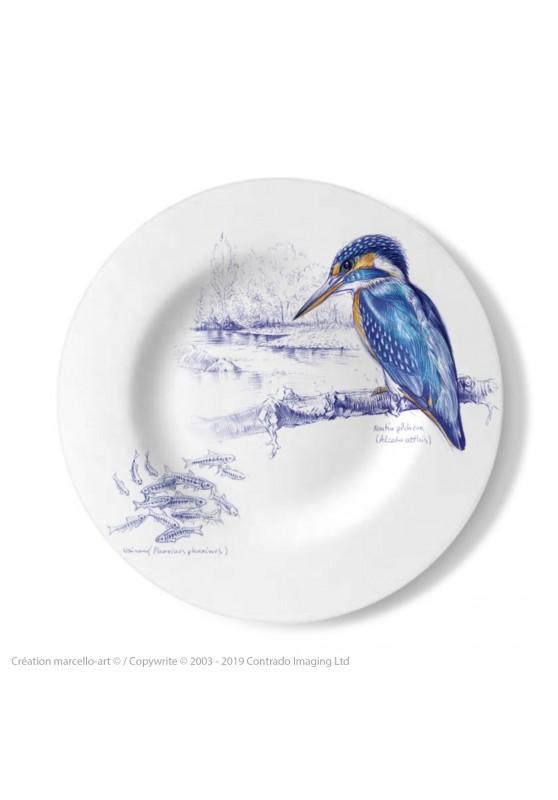 Marcello-art : Assiettes de décoration Assiette décorative 398 Martin pêcheur