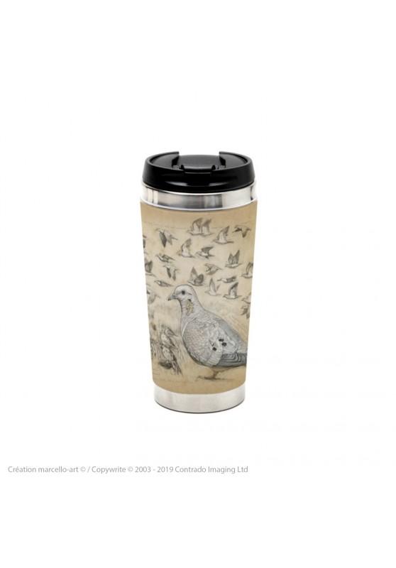 Marcello-art : Accessoires de décoration Mug thermos 231 Tourterelle oreillarde