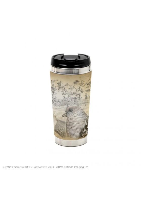 Marcello-art : Accessoires de décoration Mug thermos 232 Pigeon tigré