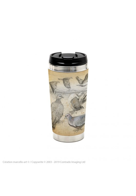 Marcello-art: Decoration accessoiries Thermos mug 233 Picazuro Pigeon