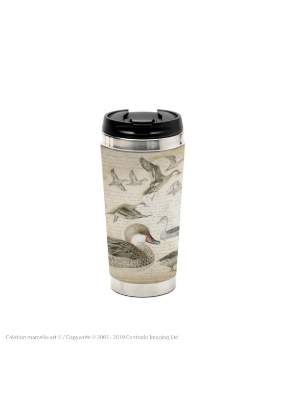 Marcello-art: Decoration accessoiries Thermos mug 234 White-cheeked pintail & Yellow-billed Pintail