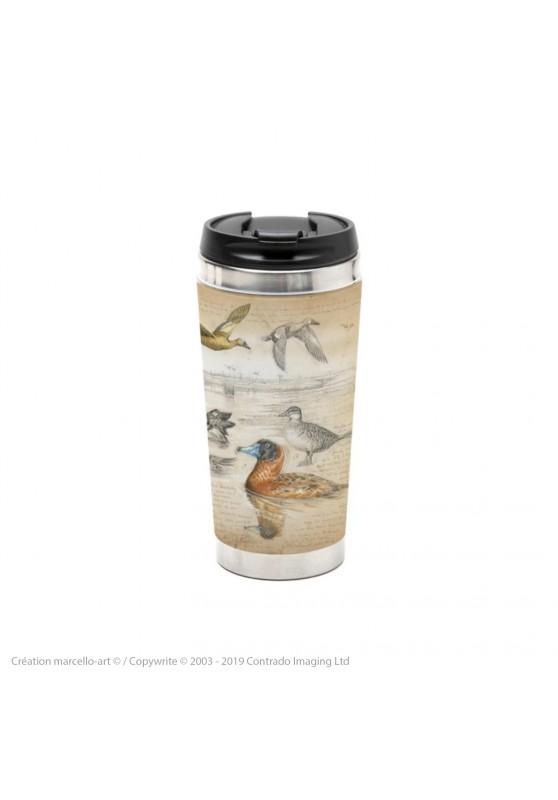 Marcello-art : Accessoires de décoration Mug thermos 235 Erismature routoutou et souchet Argentine