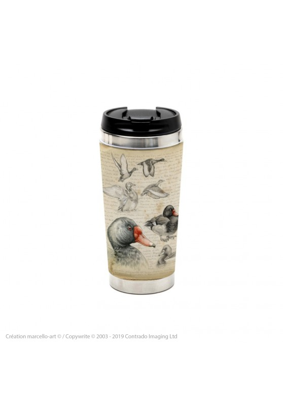 Marcello-art: Decoration accessoiries Thermos mug 236 Chiloé Wigeon & Rosy-billed Pochard